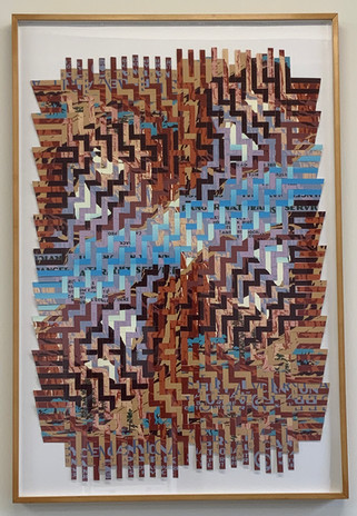 Miguel Arzabe Arches Bryce 2020 woven silkscreen national park posters 43 1/2  x 29 1/2 in. framed