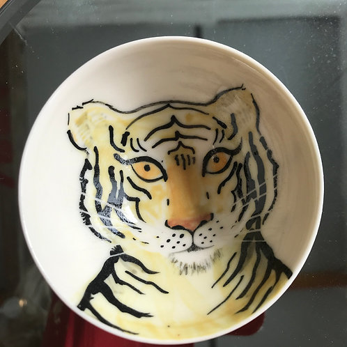 Carey Moon mini tiger poetry bowl