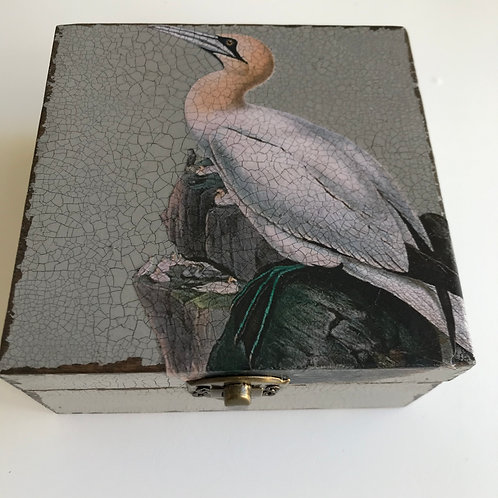 Jo Verity decoupage 'Gannet' box