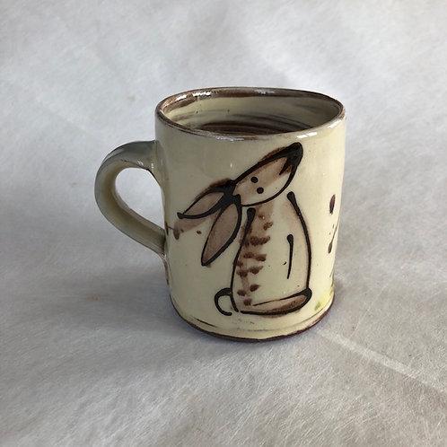 Josie Walter mug with rabbit
