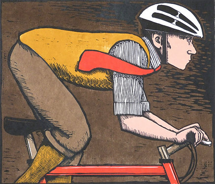 "Frans Wesselman woodcut "" The Far Horizon"""