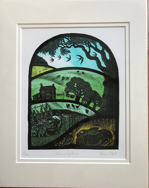 "Tamsin Abbott "" Allotment of Plenty"" limited edition print"