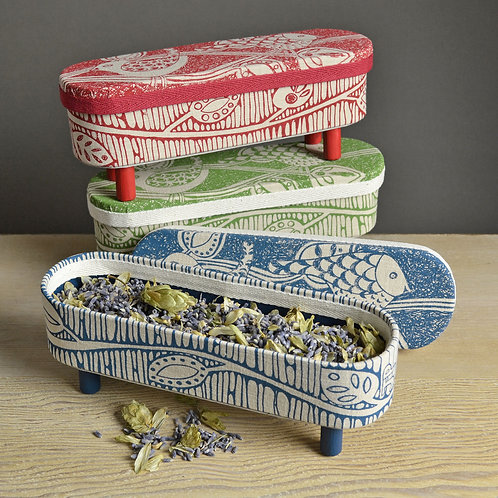 Jill Pargeter screen printed boxes