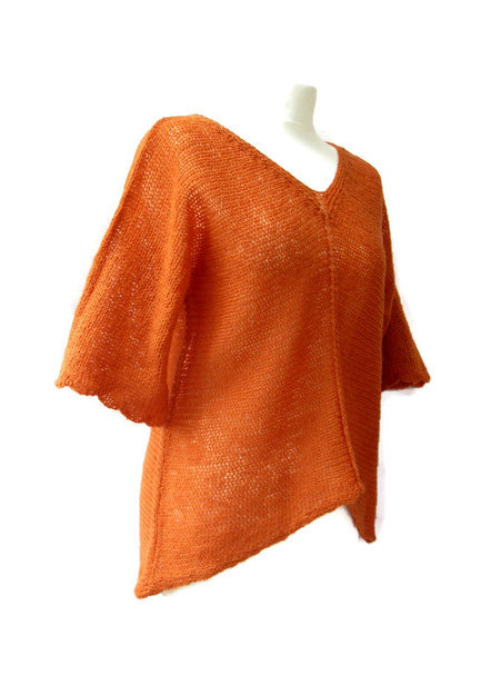 Lillian Scott light top in amber orange