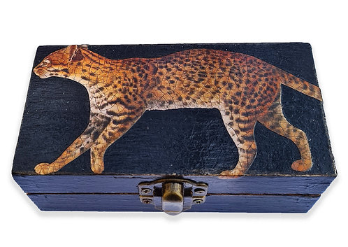 Jo Verity Leopard decoupage box