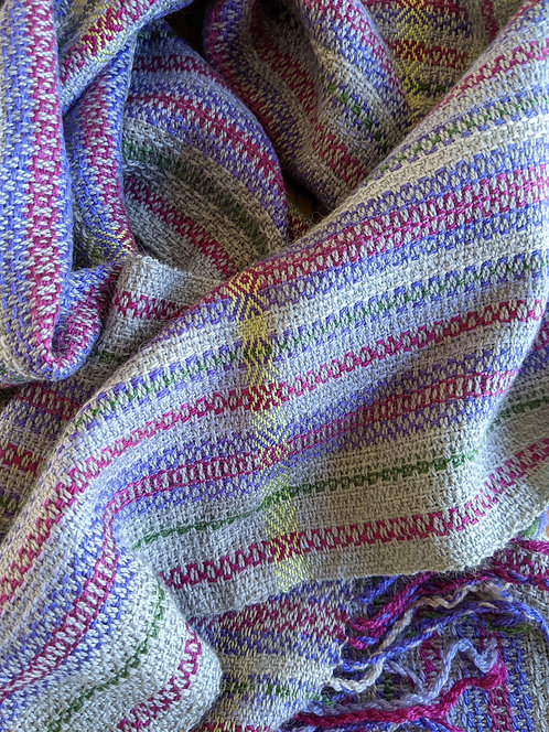 Jane Stockley wild thyme wool/silk scarf 3