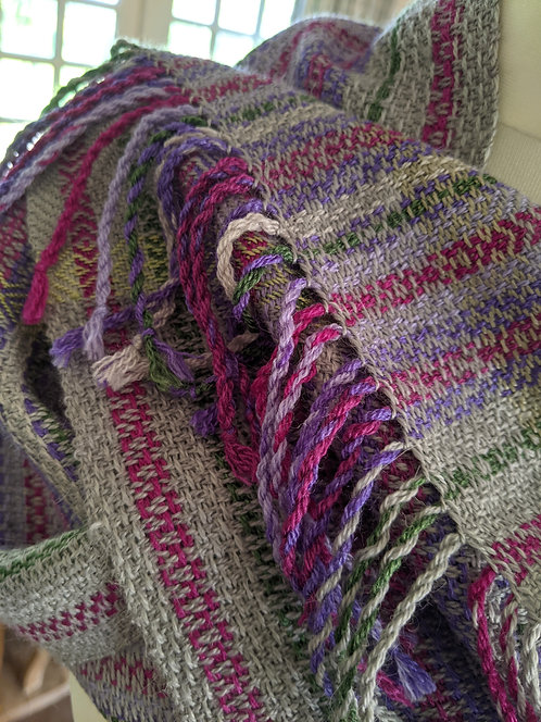 Jane Stockley 'Wild Thyme' wool/silk scarf 4