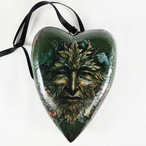 Jo Verity wooden green man heart