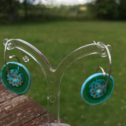 Penny Carter Jam tart handmade glass earrings
