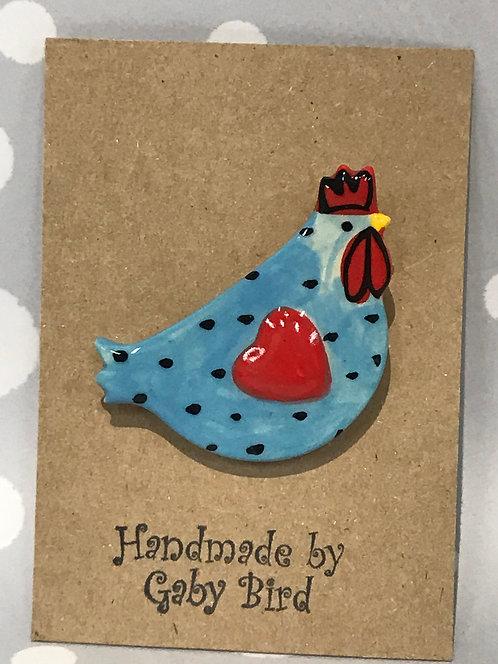 Gaby Bird ceramic brooch