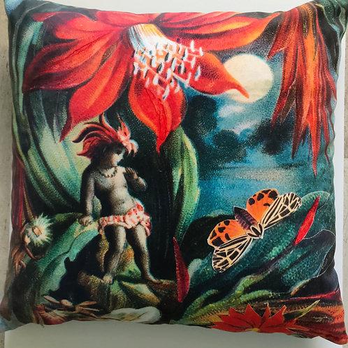 Diana Wilson Arcana 'Cactus Sprite' velvet cushion