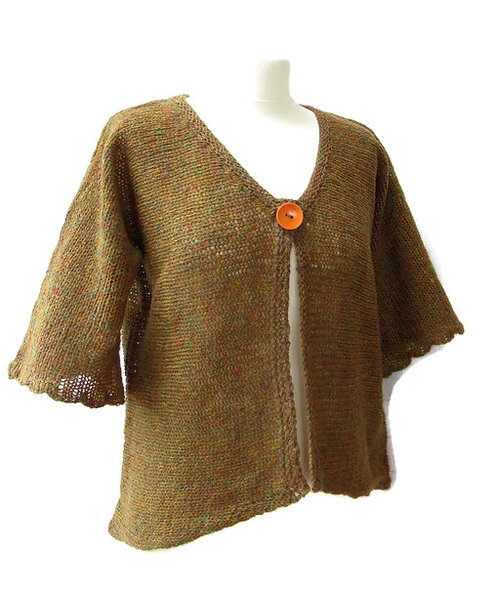 Lillian Scott Woollight jacket in autumn shades