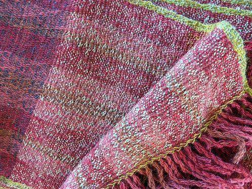Jane Stockley 'Summer Harvest' wool/alpaca scarf