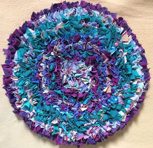 Jenni Stuart-Anderson purple/turquoise seat mat