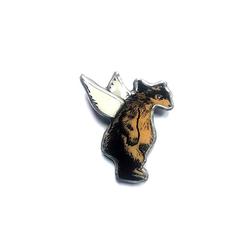 Ellymental bear brooch
