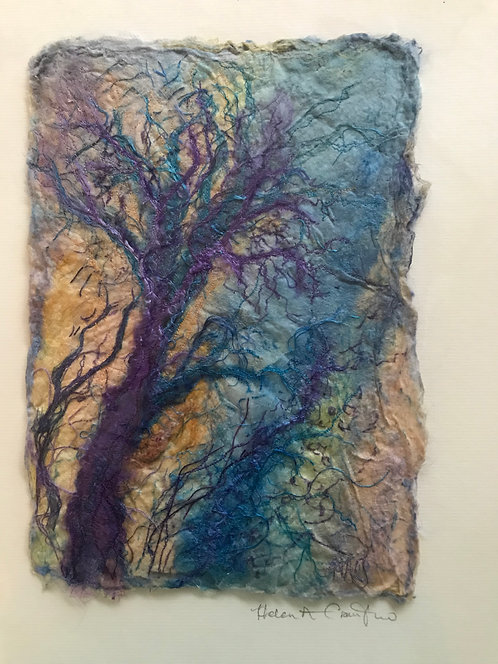 "Helen Crawford textile original "" Windblown"""