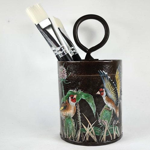 Jo Verity decoupage pencil/brush pot