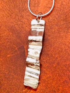 Carol Brook silver ribbon pendant necklace