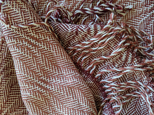 Jane Stockley bamboo and silk frosted weave scarf