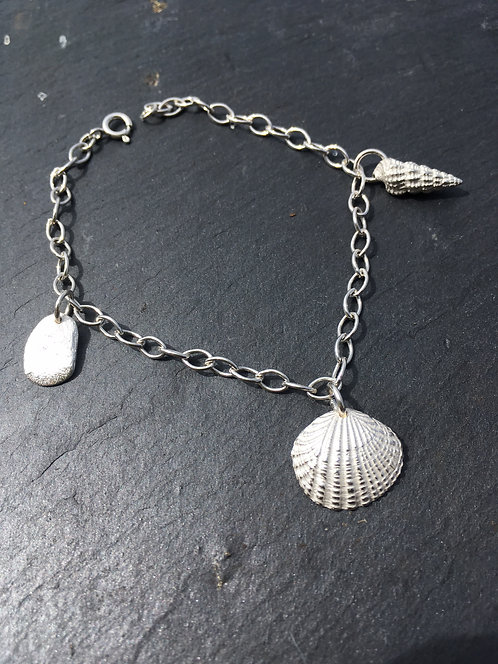 Carol James Silverfish Beachcomber silver bracelet