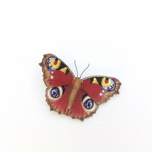Vikki Lafford Garside Peacock butterfly brooch