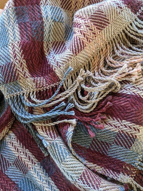 Jane Stockley handwoven twill shawl 2
