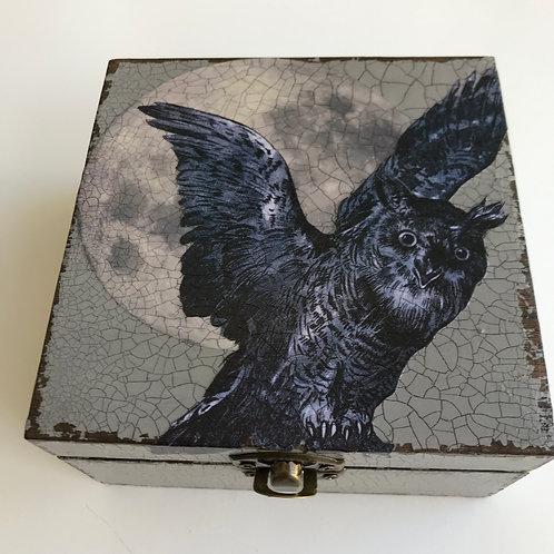 Jo Verity Night Owl decoupage box