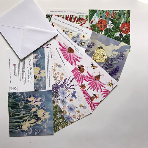 Marie Therese King Floral 2 pack of cards