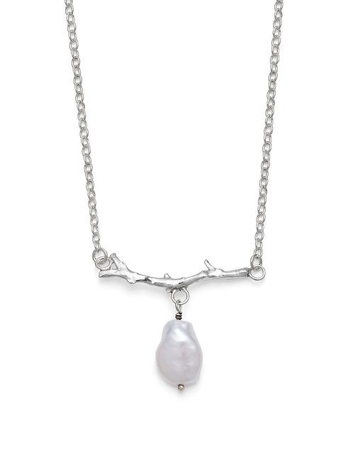 Rosie Keogh silver coral bar pendant