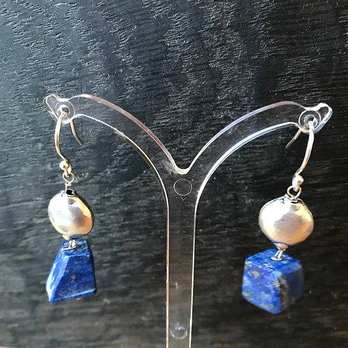 Julia Mathias lapis lazuli and silver earrings