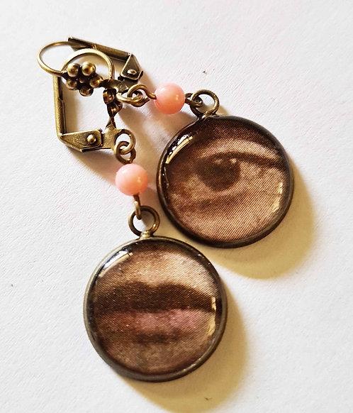 Jo Verity Mismatch Eye & Lip Earrings