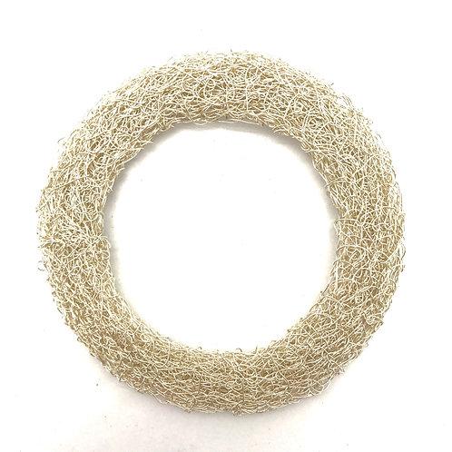 Jo Dewar silver knitted flat bracelet