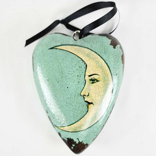 Jo Verity decoupage moon heart