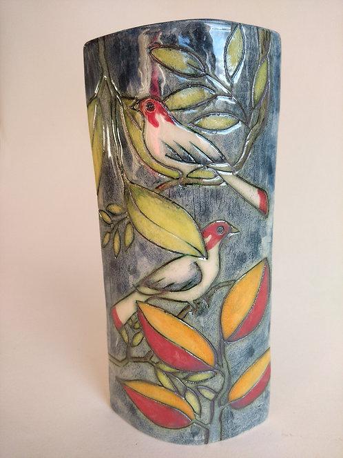 Jeanne Jackson Bird Vase (no.25)