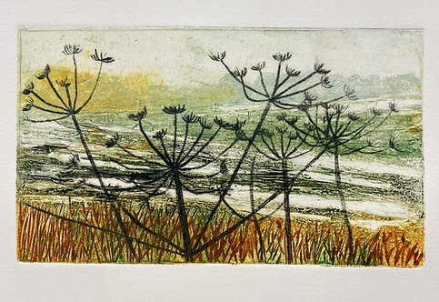 Annabelle Oppenheimer 'After the Snow' collagraph