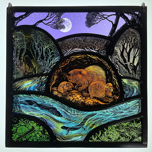 """Tamsin Abbott stained glass """" Wilding"""""""