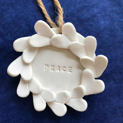Meryl Till porcelain 'PEACE' decoration