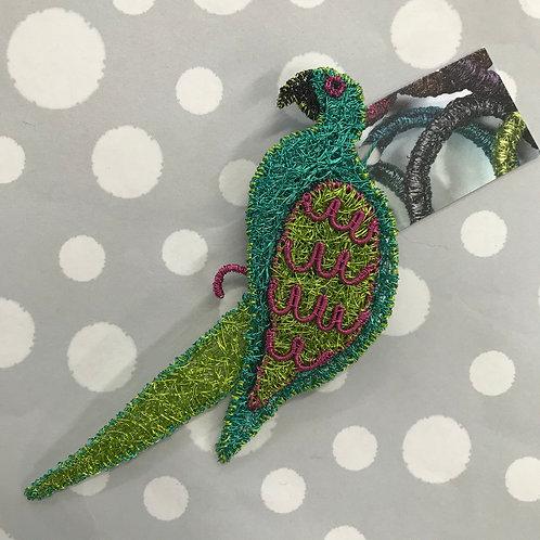 Jo Dewar Parrot brooch