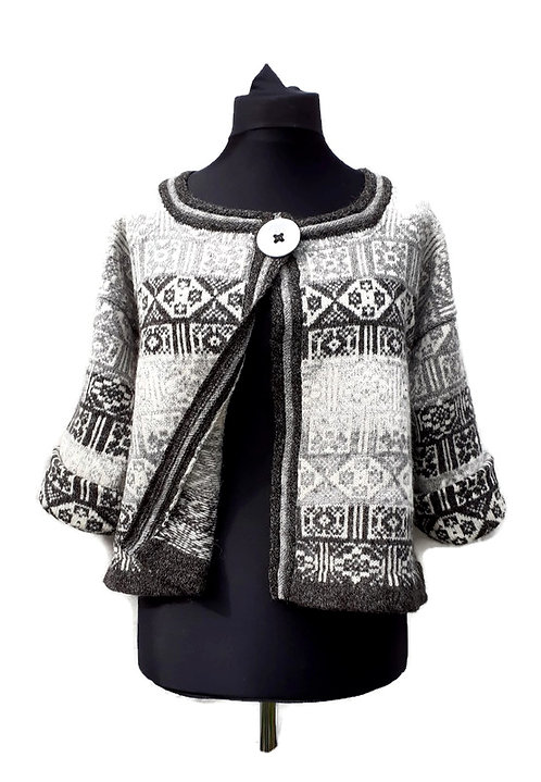 Lillian Scott felted Fair Isle jacket