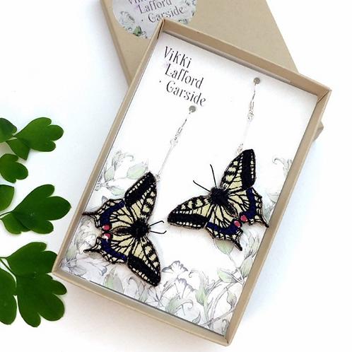 Vikki Lafford Garside Swallowtail butterfly earrings