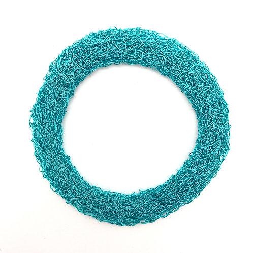 Jo Dewar turquoise knitted flat bracelet