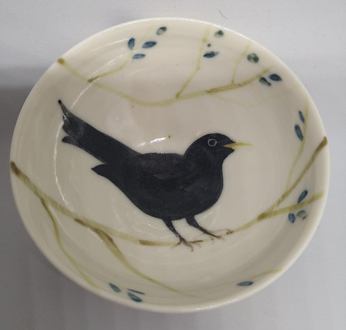 Carey Moon mini porcelain blackbird dish 1
