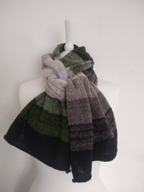 "Corinne Carr ""The Last Leaf"" Lambswool mousse scarf"