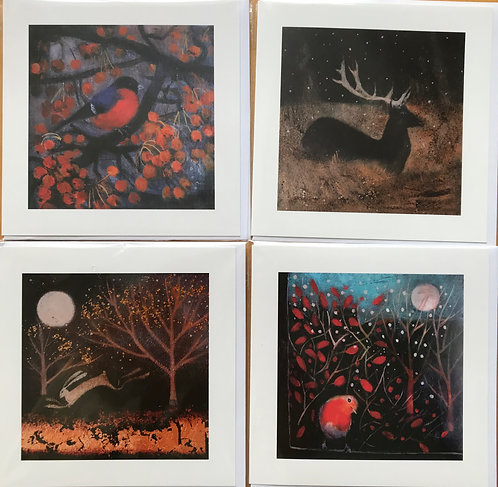 Catherine Hyde Card pack 2 ( pack of 4)