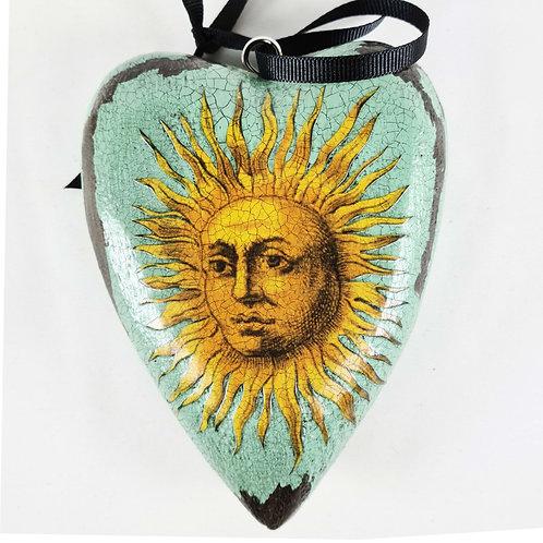 Jo Verity decoupage Sun heart