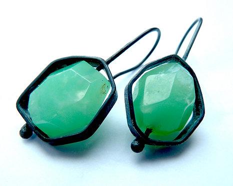 Charlie High Rox earrings : Chrysophase