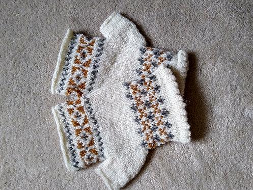 Chris Harris fingerless Shetland wool mittens