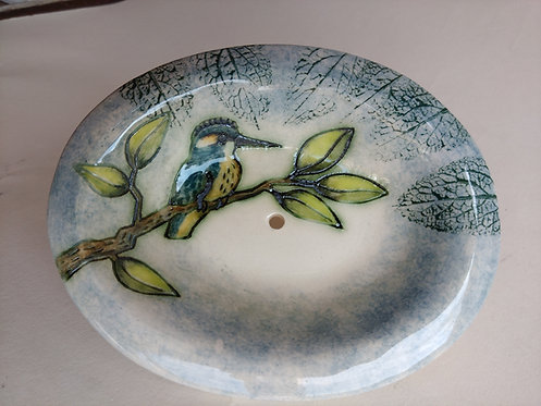 Jeanne Jackson kingfisher soap dish
