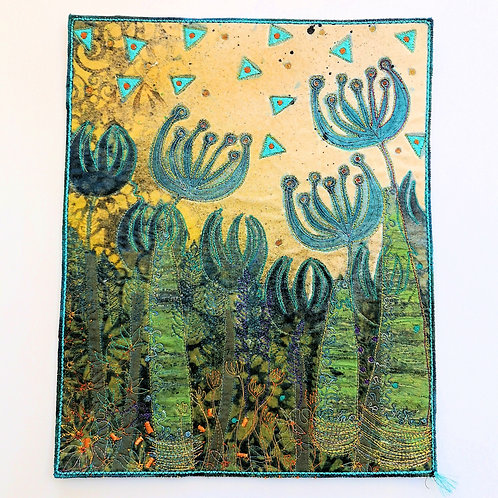 Angie Hughes 'Moody Blue' embroidery