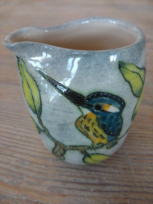 Jeanne Jackson ceramic kingfisher jug